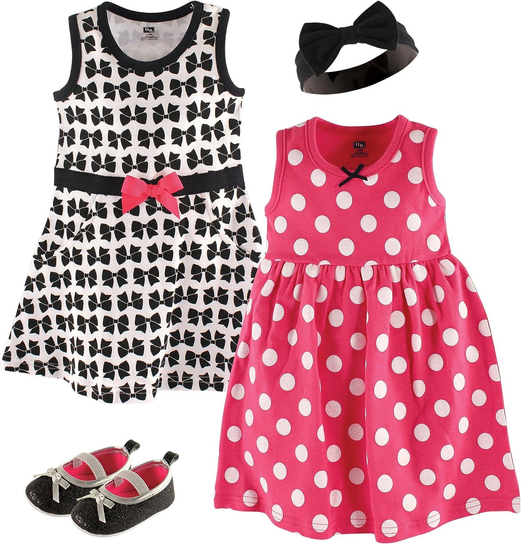 San Jose Mall Hudson Baby Summer Dress and Shoe Headband Max 57% OFF Set