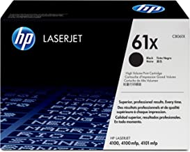 HP 61X | C8061X | Toner Cartridge | Black | High Yield - DISCONTINUED BY MANUFACTURER (Renewed)