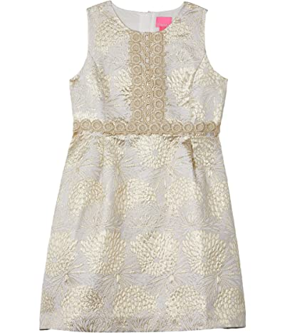 Lilly Pulitzer Kids Mini Clare Dress (Toddler/Little Kids/Big Kids) (Gold Metallic Full Bloom Brocade) Girl