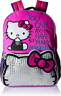 "Hello Kitty Many Friends 16"" Backpack, Pink"