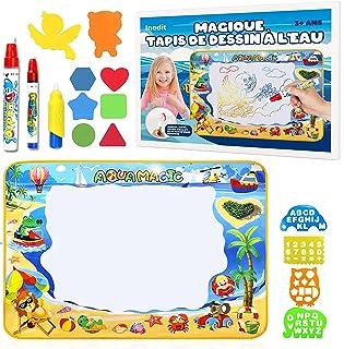 Tapis Dessin Enfant Eau GRAND Format 100*70cm - Jouet Enfant Tampon Aquadoodle - Tapis De Coloriage Geant Lavable SUPER CA...