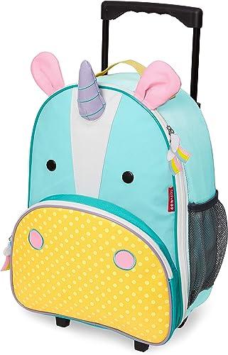 Skip Hop Kids Luggage with Wheels, Unicorn