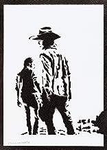 Carl und Rick Poster The Walking Dead Plakat Handmade Graffiti Street Art - Artwork