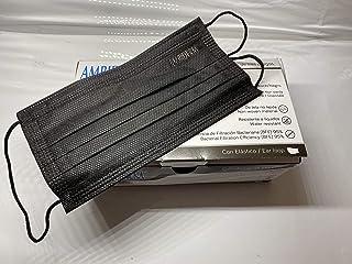Cubreboca Econoply 3 Pliegues Negro Ambiderm Caja C/50 Pz