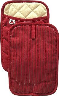 Big Red House Soportes para ollas, con Resistencia al Calor de Silicona y flexibilidad de algodón, Relleno de algodón Reciclado, Forro de Felpa, Juego de 2 (Rojo)