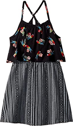 Parrot and Tribal Print Lee Dress (Toddler/Little Kids/Big Kids)