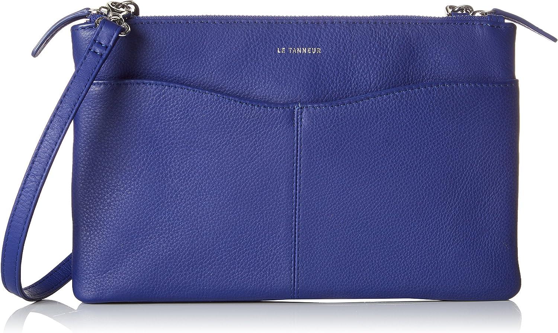 LE TANNEUR Valentine Ttv3a02, Women's Clutch, bluee (Majorelle), 3.5x15x23 cm (W x H L)