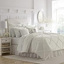 Laura Ashley Adelina White Ruffle Comforter Set, Full/Queen,