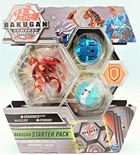 Bakugan Armored Alliance Starter Pack S2 - Pyrus Dragonoid, Collectible Transforming Creatures, for Ages 6 & Up