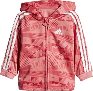 8e18a5fe56fdd adidas Performance Survêtement Shiny Hoody Rose Fille