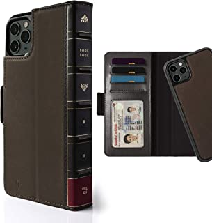 Twelve South BookBook for iPhone 11 Pro Max | 3-in-1 Leather Wallet Case with Display Stand and Removable Magnetic Shell (Brown)