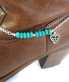 turquoise boot bracelet