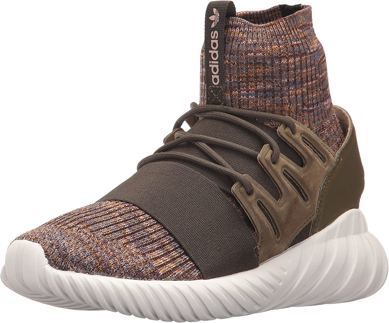 Adidas Originals Men's Tubular Doom PK Running shoes, Trace Olive Mystery Brown Crystal White, 8 Medium US