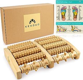 Kendao® ⭐ Rouleau de Massage en Bois • Appareil de Massage des Pieds • Drainage Lymphatique & Solution de Relaxation Manue...