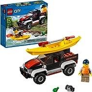 LEGO City Great Vehicles Kayak Adventure 60240 Building Kit, 2019 (84 Pieces)