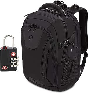 SwissGear 5358 USB ScanSmart Laptop Backpack. Abrasion-Resistant & Travel-Friendly Laptop Backpack Exclusive Bundle with Lock