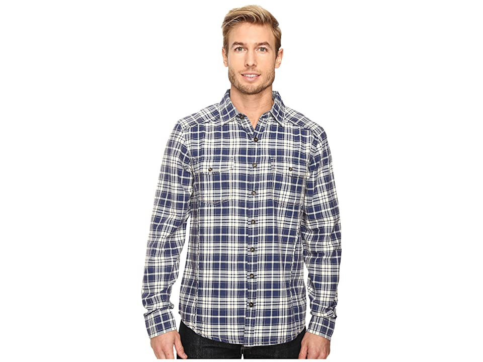 Ecoths Preston Long Sleeve Shirt (Indigo Blue) Men