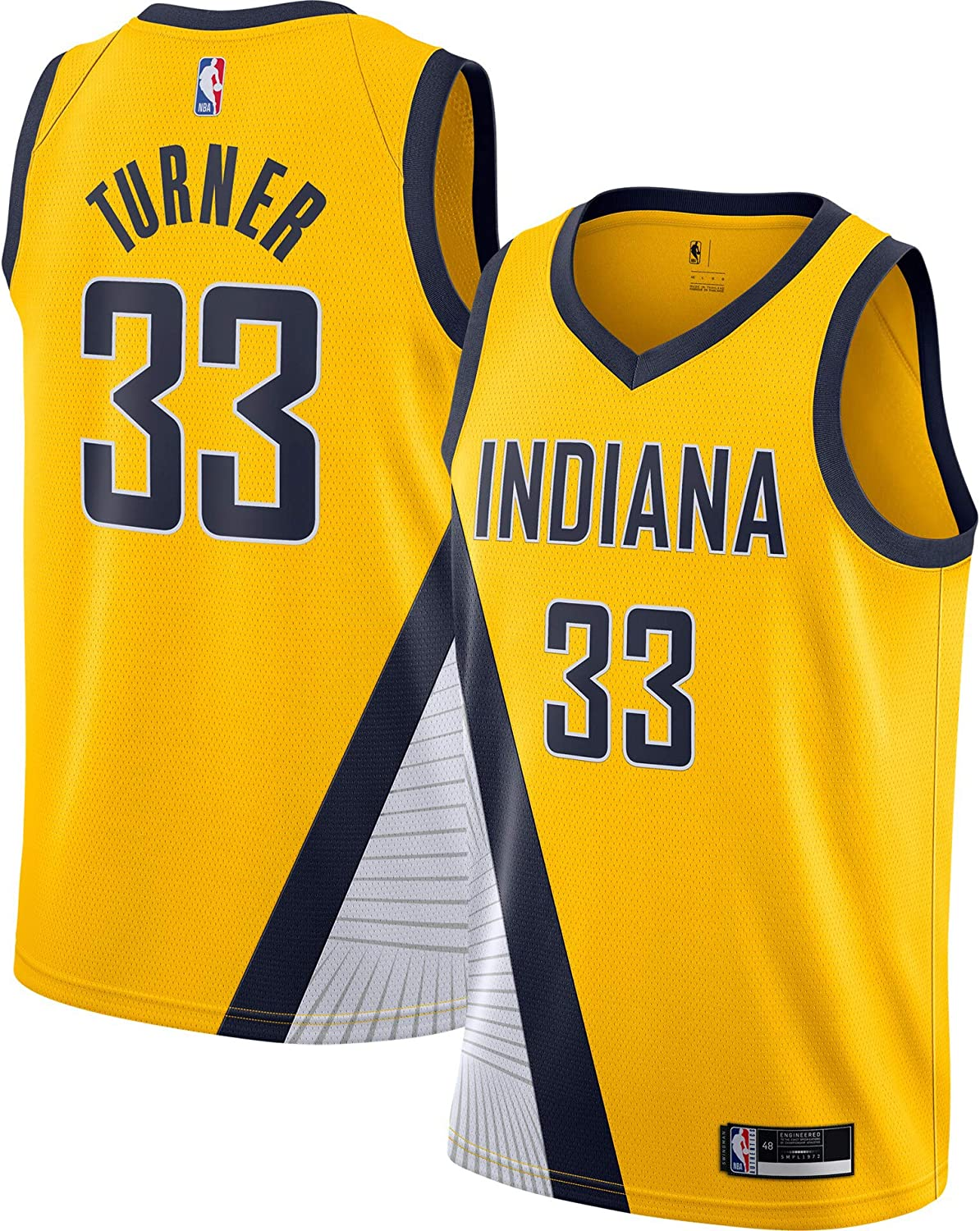 Amazon.com: Myles Turner Indiana Pacers #33 Yellow Youth 8-20 ...