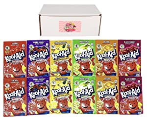 Kool-Aid Drink Mix Packets Variety Pack of 6 Flavors (2 of each flavor, Total of 12) (Variety Pack 2)