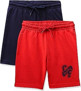 Amazon Brand - Jam & Honey Boy's Cotton Casual Shorts