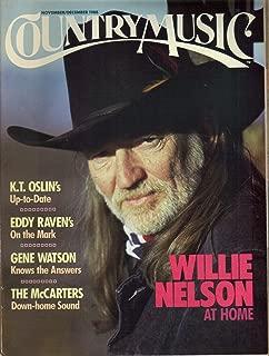 Country Music magazine, Number 134, November/December 1988 - Willie Nelson cover