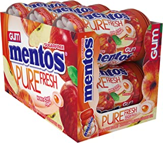 Mentos Pure Fresh Sugar-Free Chewing Gum with Xylitol, Honeycrisp Apple, Halloween Candy, Bulk, 50 Piece Bottle (Pack of 6)