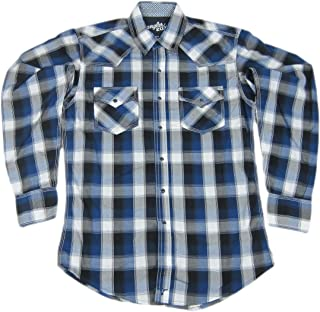 Wrangler Mens 20X Twenty X Western Plaid Pearl Snap Shirt MJ1250M