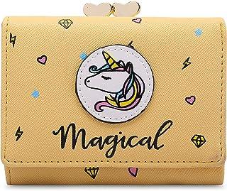 MOCA Pink Leather Women's & Girl's Wallet (T56546)