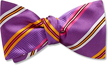 Debienne Purple Striped, Men's Bow Tie, Handmade in the USA