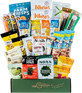 KETO BOX OF SNACKS [30 Count) Gluten Free, High Protein Low Carb Snacks for Sympathy, Get Well, Quarantine, Father's Day Gift Basket SHIPS FAST! Best Keto Snacks and Treats | Friendly Diabetic Snacks