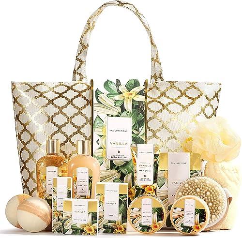 Spa Luxetique Coffret de Bain et de Soins, 15 Pièces, Parfum de Vanille, Coffret Cadeau pour Femme, Lotion pour le Co...
