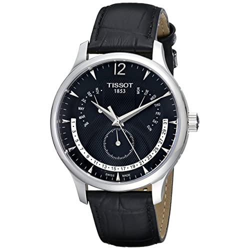 Tissot Mens T063.637.16.057.00 Black Dial Watch