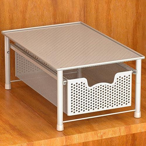 popular Simple Houseware Stackable outlet sale Cabinet Basket Drawer wholesale Organizer, White outlet online sale