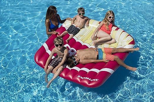 "Swimline 9050-72/"" Swimming Pool SunTan Island Inflatable Lounger"