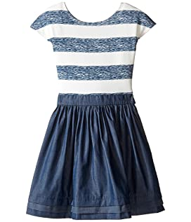 Stripe Abbie Dress (Little Kids/Big Kids)