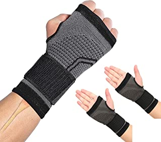 HiRui 2-Pack Wrist Brace Wrist Wrap, Wrist Strap Hand Compression Sleeves Support for Fitness Weightlifting MTB Tendonitis...