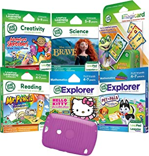2c0d49aa1 LeapFrog LeapPad 7PC Learning Set: Adventure Sketchers, Disney Brave, Hello  Kitty, Mr