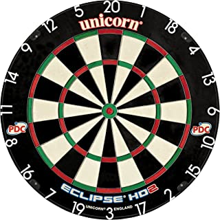 Eclipse HD2 High Definition Professional Bristle Dartboard with Increased Playing Area and Super Thin Bullseye