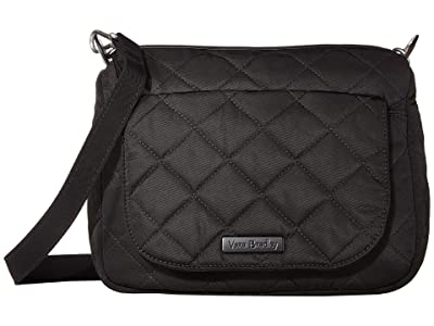 Vera Bradley Carson Performance Twill Mini Shoulder Bag (Black) Cross Body Handbags