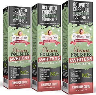 My Magic Mud - Activated Charcoal Toothpaste, Natural, Whitening, Detoxifying, 4 oz, Cinnamon Clove (3-Pack)