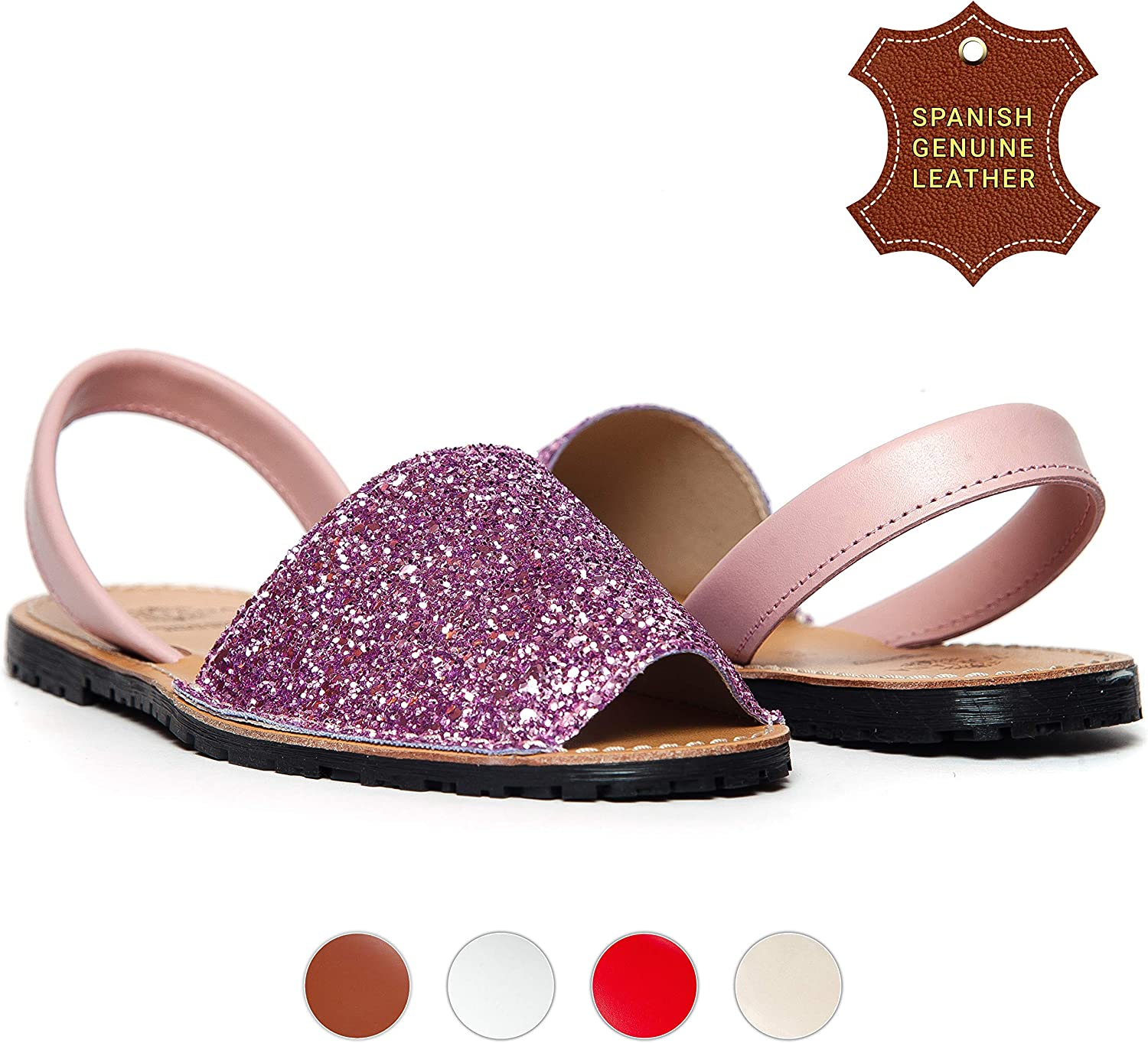 Zoriana Menorca Sandals for Women - Casual Slingback Womens Flat Spanish Leather Sandals