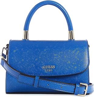 حقيبة ليلى صغيرة وقلابة بمقبض علوي من جيس، لون ازرق
