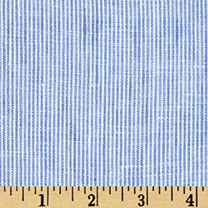 TELIO Umbria Linen Stripe Fabric by The Yard, Blue