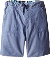 Paul Smith Junior - Bike/Chambray Reversible Shorts (Big Kids)