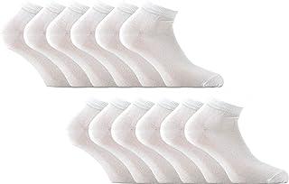 12 paia di mini calze caviglia in filo di scozia elasticizzato