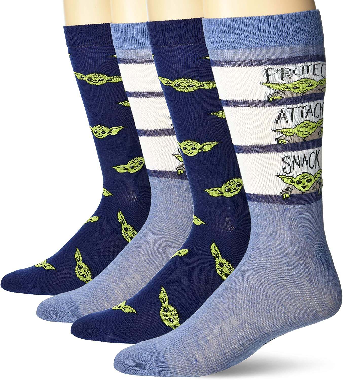 STAR WARS mens 2 Pack Crew Socks