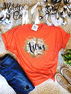 Orange Astros Shirt Astros T-shirt Baseball Tee Womens Astros Shirt Houston MLB Shirt Women Houston Top Womens Astros Tees Houston Astros