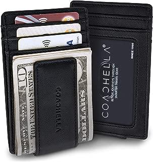 Mens Money Clip and Credit Card Holder | RFID Money Clip Slim Wallet | Credit Card Front Pocket Wallet
