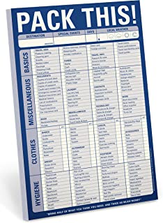Knock Knock Pack This! Pad Packing List Notepad, 6 x 9-inches