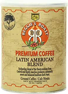 Reggie's Roast Latin American Blend Ground Coffee, 12-Ounce Cans (Pack of 4)